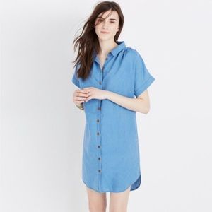 Madewell Central Shirt Dress in Indigo